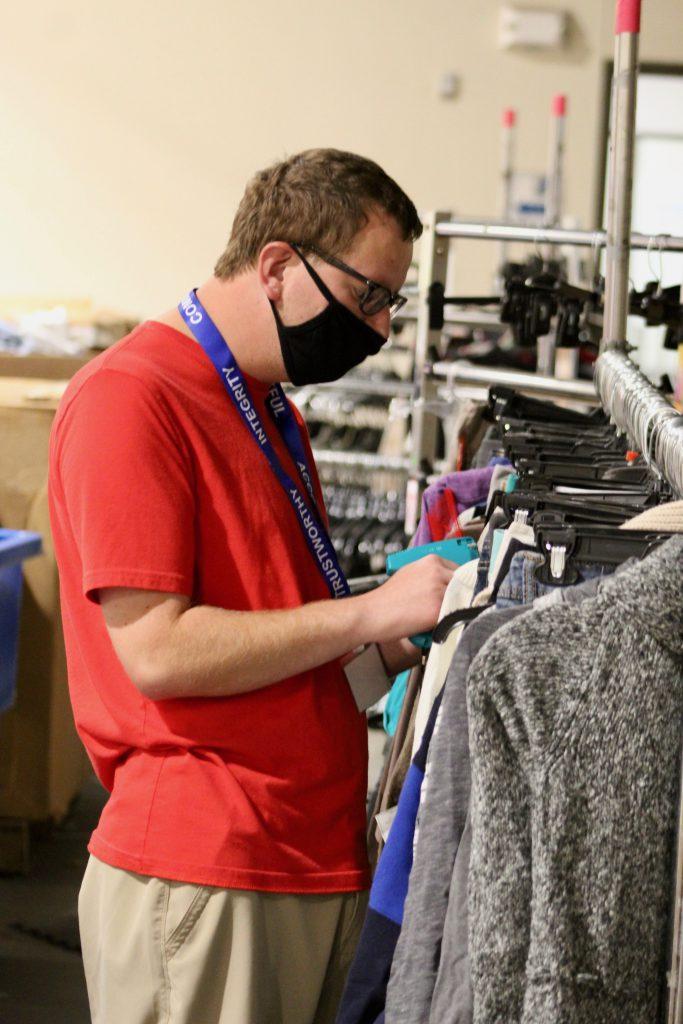 Craig works in Goodwill's Retail Skills Training Program.